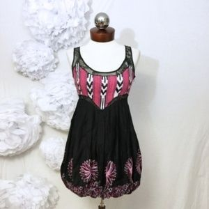 New Bebe Vivianne Dress embroidered lace back XS